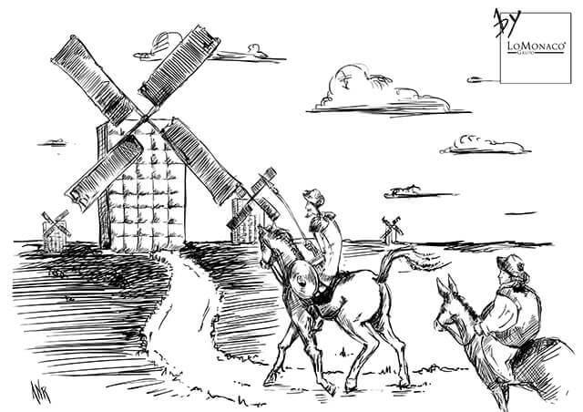 """""""Tal día como hoy…"""" El Quijote por LoMonaco"""