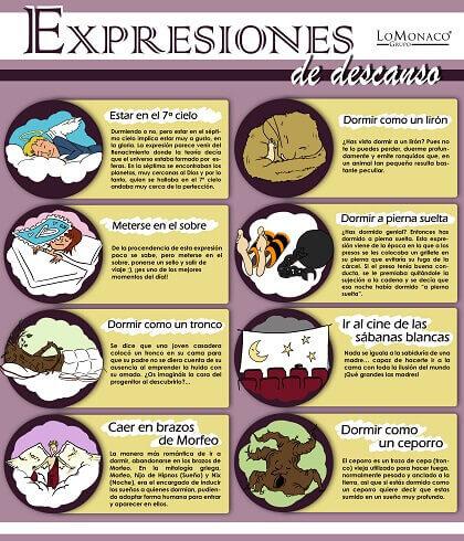 Expresiones sobre el sueño