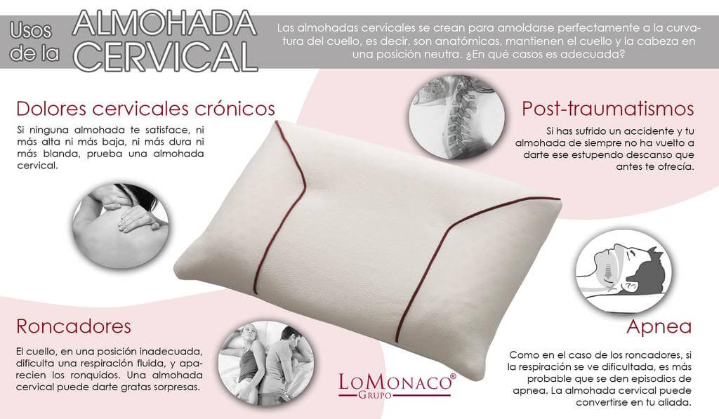 Usos de la almohada cervical