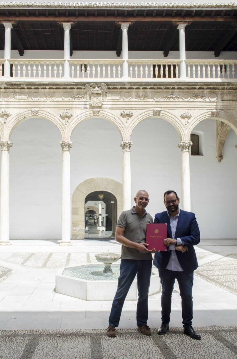 Imagen-Livio Lo Monaco y Antonio toledo Convenio SENSOBED UGR-LoMonaco