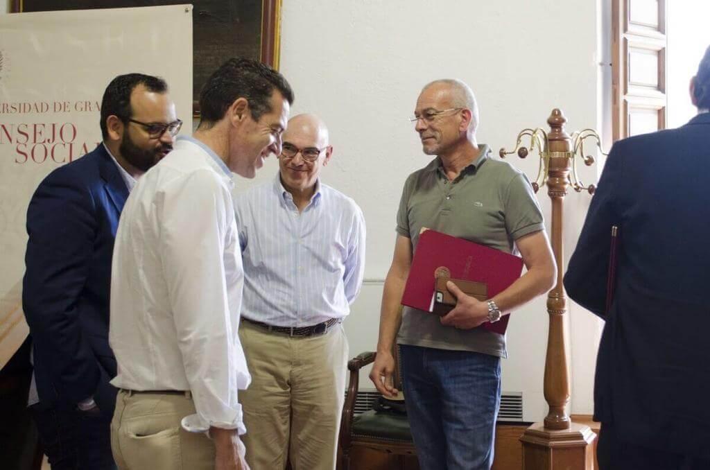 Imagen-Livio Lo Monaco y Presidente consejo Social de la Universidad de Granada