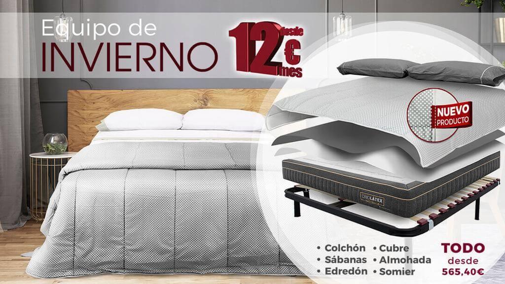 Lo Monaco te presenta el equipo del invierno ¡pack de colchón y somier, más ropa de cama!